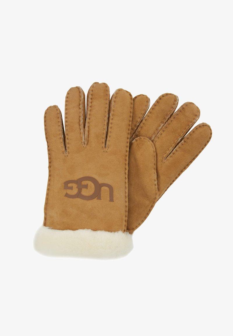 UGG - LOGO GLOVE - Handschoenen - chestnut