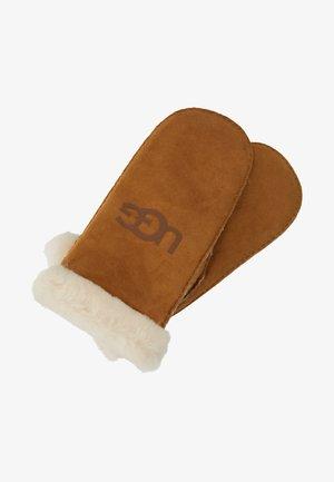 LOGO MITTEN - Rękawiczki z jednym palcem - chestnut