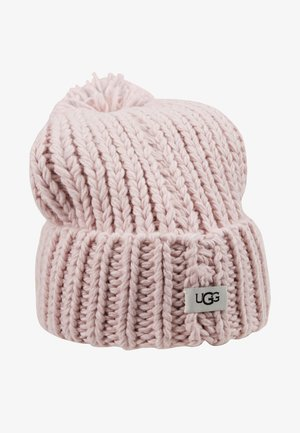 CHUNKY WIDE CUFF BEANIE - Bonnet - pink crystal