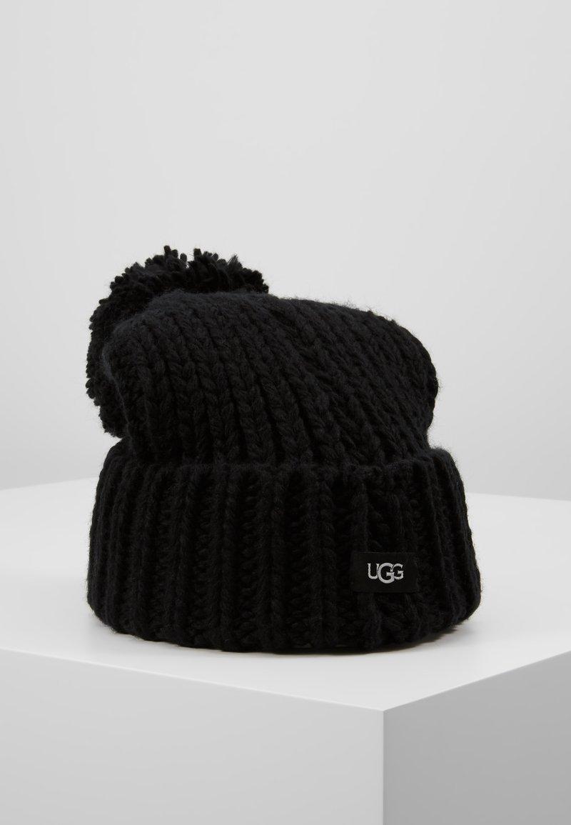 UGG - CHUNKY WIDE CUFF BEANIE - Beanie - black