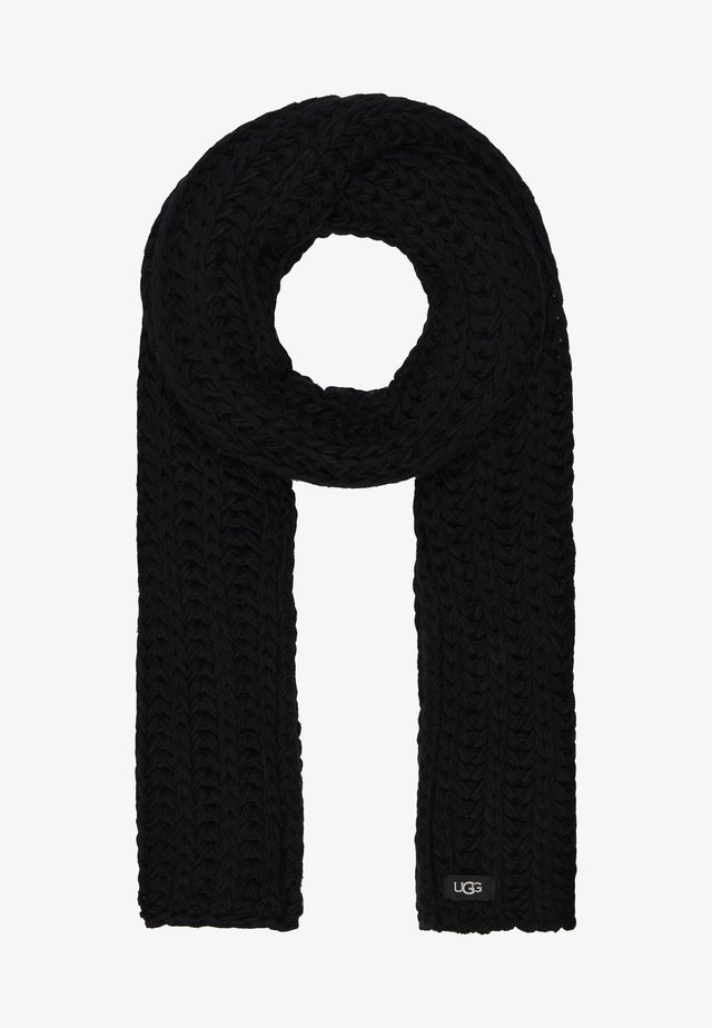 CHUNKY KNIT SCARF - Sjaal - black