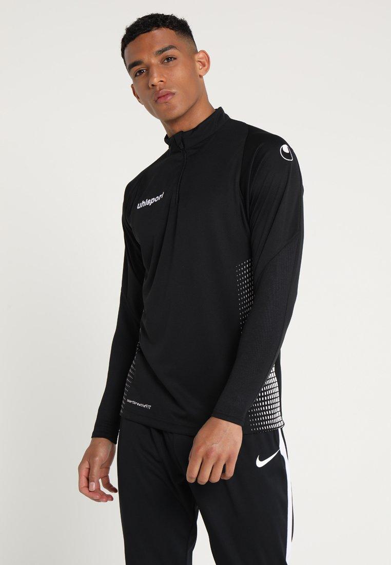 Uhlsport - SCORE 1/4 ZIP - Sports shirt - black/white