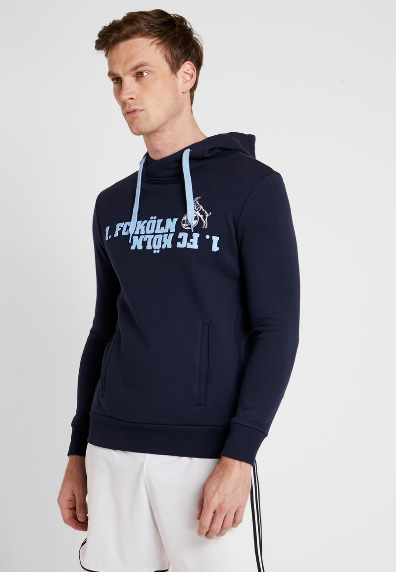 Uhlsport - HOODY FREIZEIT - Huppari - marine/skyblau