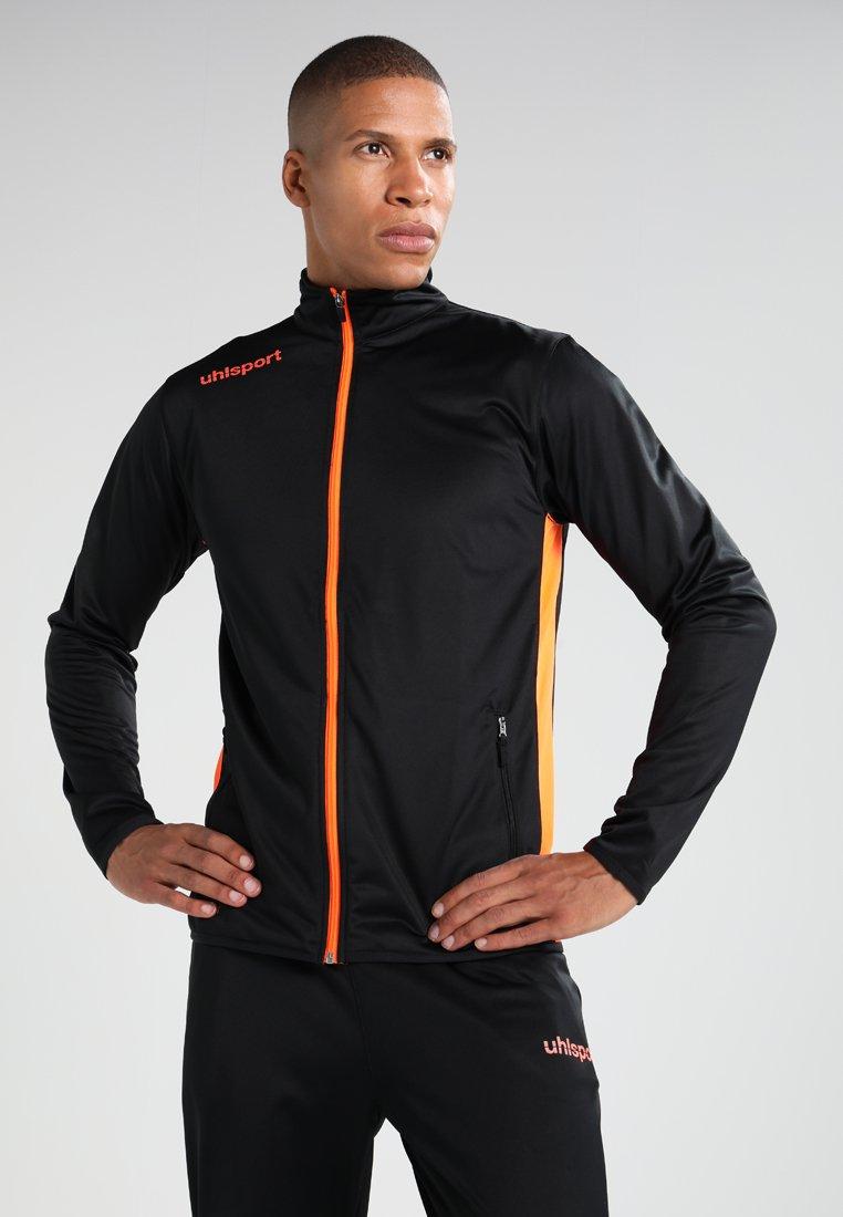 Uhlsport - ESSENTIAL CLASSIC - Tracksuit - schwarz/fluorescent orange