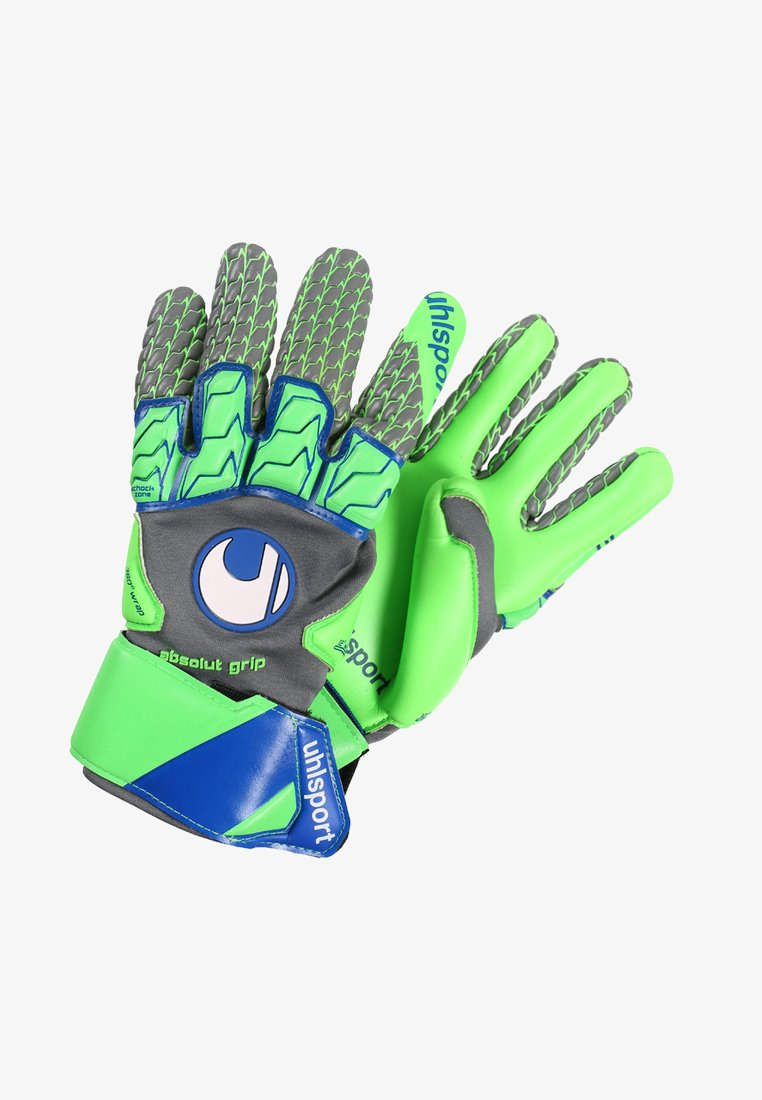 Uhlsport - TENSION ABSOLUT GRIP REFLEX - Goalkeeping gloves - dark grey melange/fluo green/navy