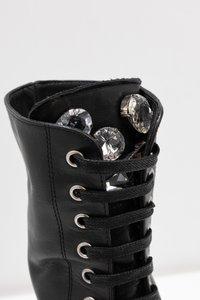 UMA PARKER - Platform-saappaat - foulard nero - 2