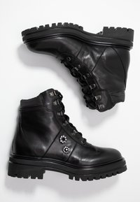 UMA PARKER - Šněrovací kotníkové boty - foulard nero - 3