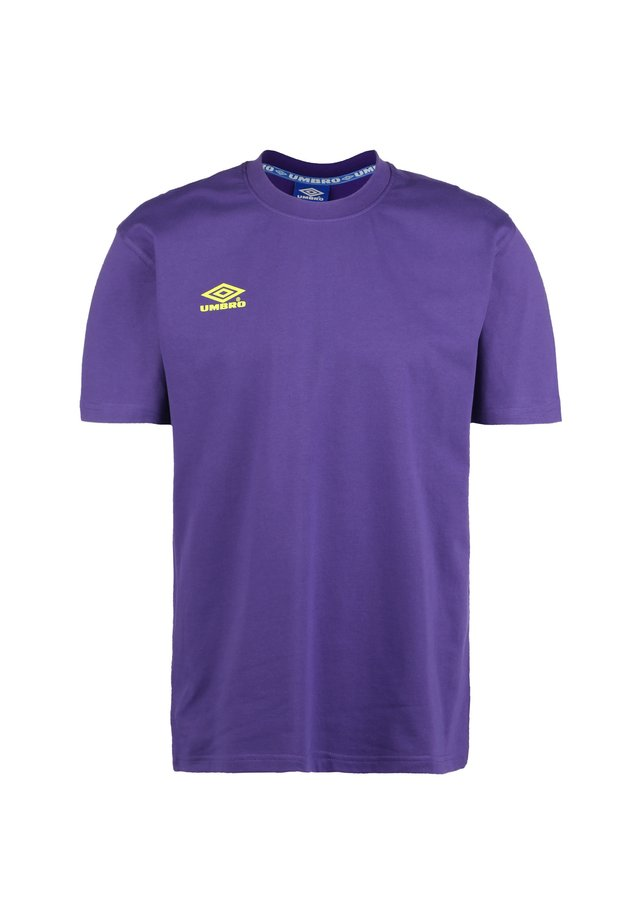 CLASSICO 2 CREW  - T-Shirt print - heliotrope / safety yellow