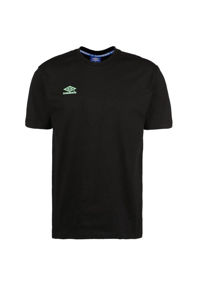 CLASSICO 2 CREW  - Print T-shirt - black / aqua mint