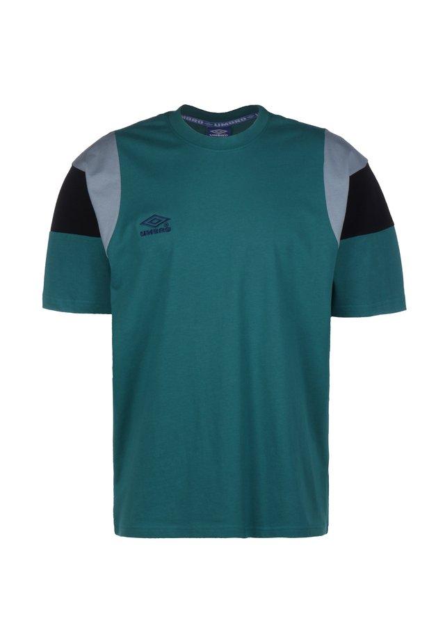 T-shirt print - bayou / blue lead / black / ink