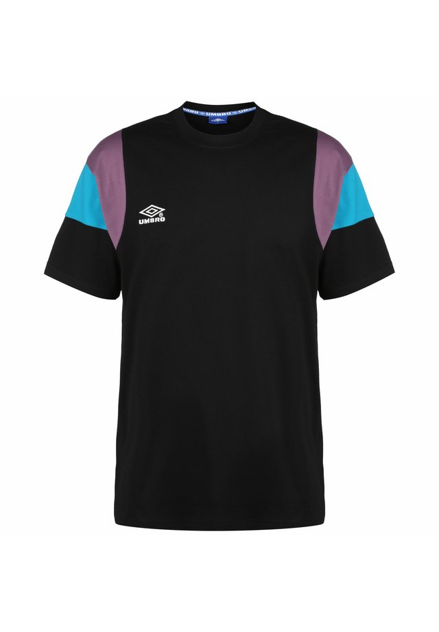T-shirt print - black / dusk / sky dive / bright white
