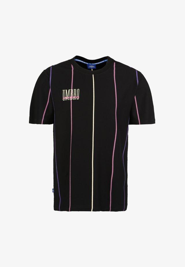 PARADISE - T-shirt imprimé - black / soft yellow / heliotrope / cassis