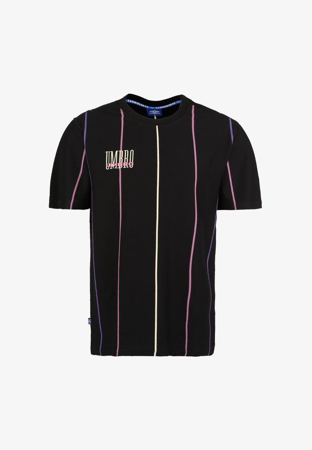 PARADISE - Print T-shirt - black / soft yellow / heliotrope / cassis
