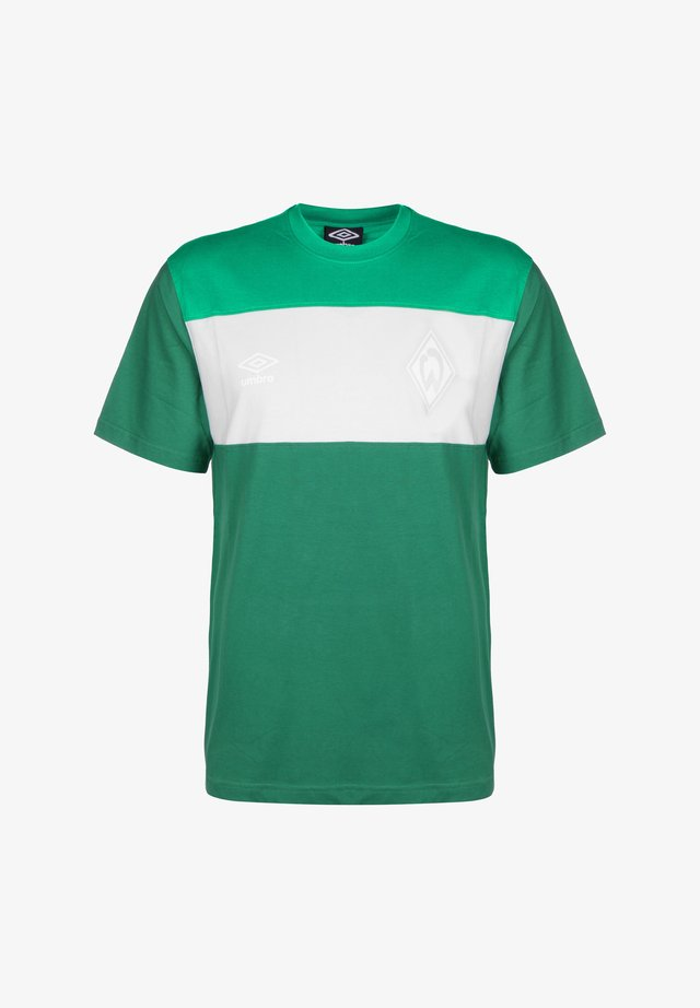 T-Shirt basic - verdant green / white / golf green