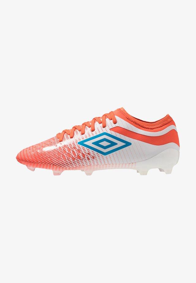 Moulded stud football boots - white/ibiza blue/cherry tomato