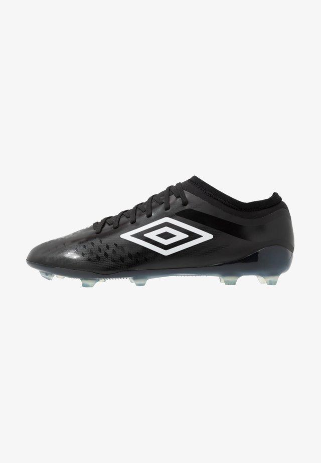 VELOCITA IV PREMIER FG - Moulded stud football boots - black/white