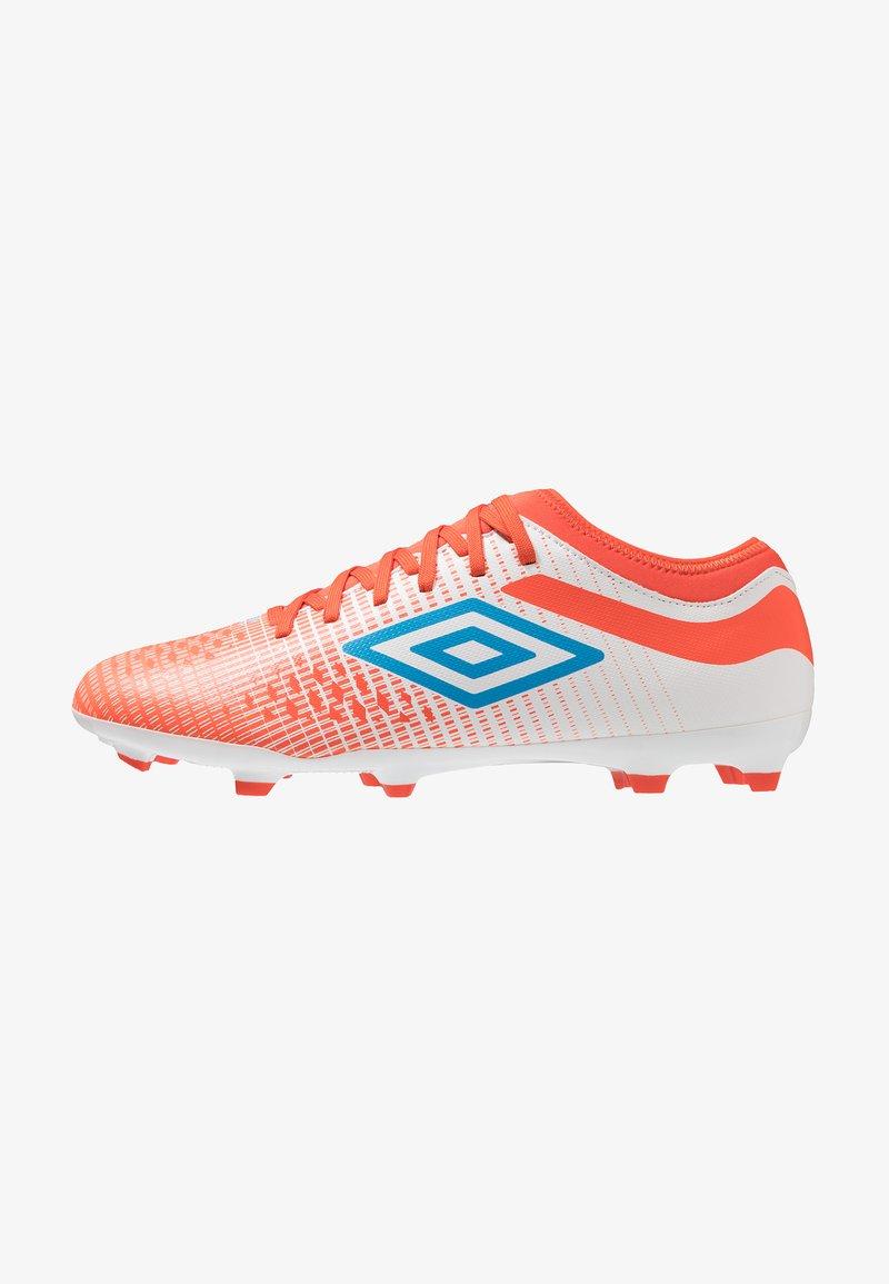 Umbro - VELOCITA IV CLUB FG - Fußballschuh Nocken - white/ibiza blue/cherry tomato