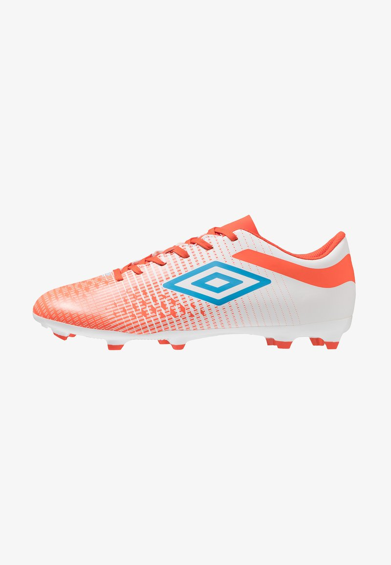 Umbro - VELOCITA IV LEAGUE FG - Chaussures de foot à crampons - white/ibiza blue/cherry tomato