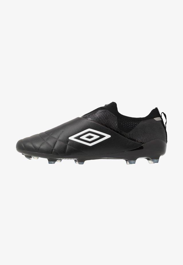 MEDUSÆ III ELITE FG - Moulded stud football boots - black/white