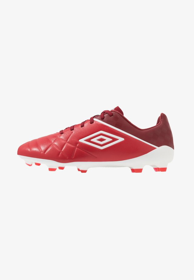 MEDUSÆ III PRO FG - Moulded stud football boots - toreador/white/merlot
