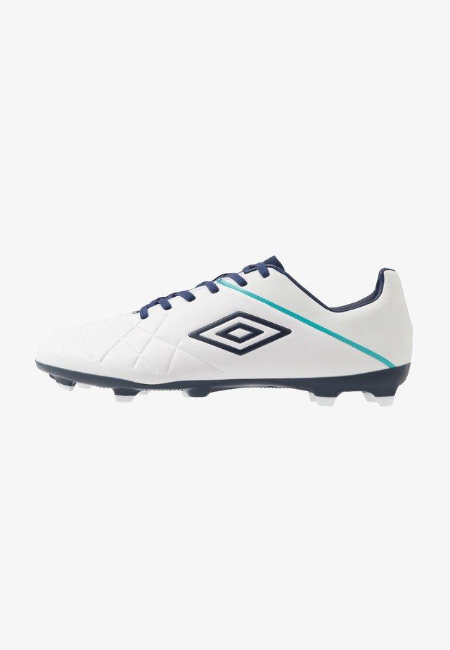 MEDUSÆ III PREMIER FG - Moulded stud football boots - white/medieval blue/blue radiance