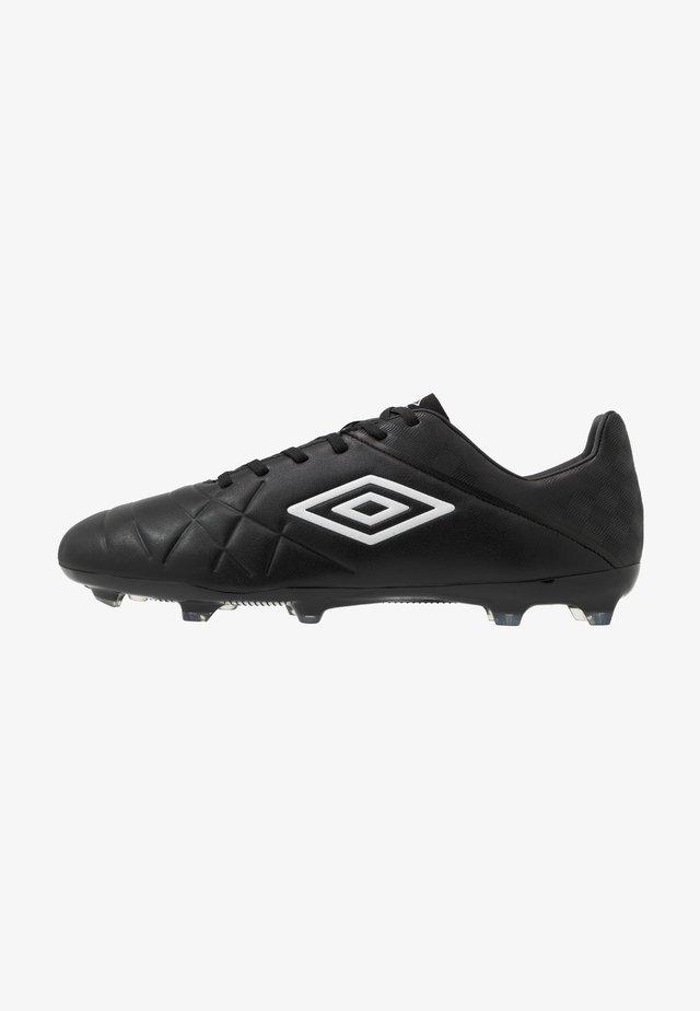 MEDUSÆ III PREMIER FG - Moulded stud football boots - black/white