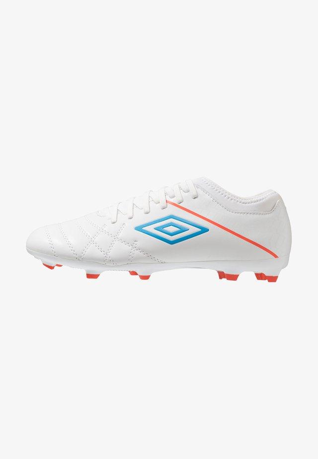 MEDUSÆ III CLUB FG - Moulded stud football boots - white/ibiza blue/cherry tomato