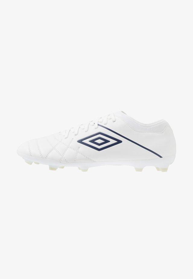 MEDUSÆ III CLUB FG - Moulded stud football boots - white/plum/nimbus cloud