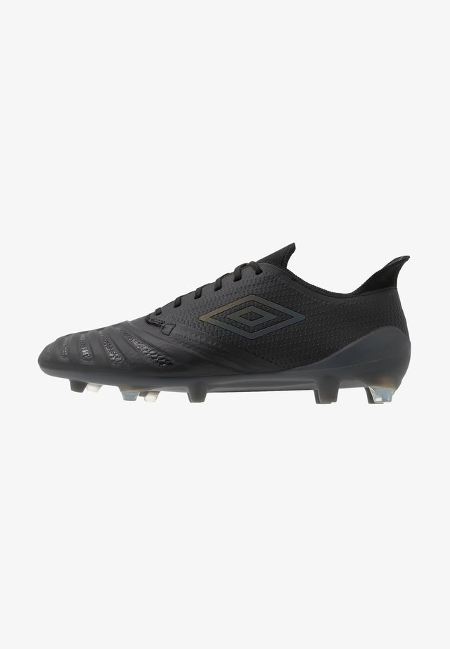 UX ACCURO III PRO FG - Moulded stud football boots - black/black reflective