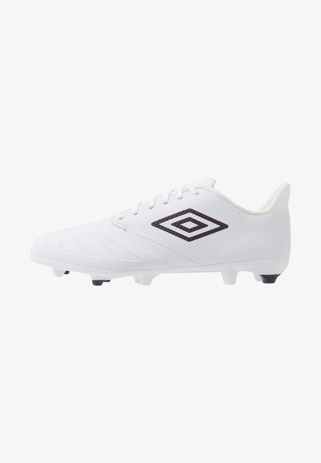 UX ACCURO III PREMIER FG - Moulded stud football boots - white/plum