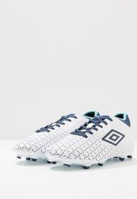 Umbro - VELOCITA CLUB FG - Fodboldstøvler m/ faste knobber - white/medieval blue/blue radiance - 2