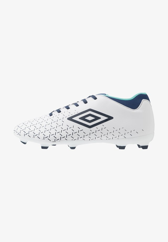 VELOCITA CLUB FG - Moulded stud football boots - white/medieval blue/blue radiance
