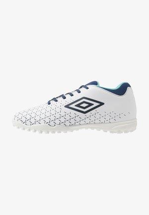 VELOCITA CLUB TF - Kopačky na umělý trávník - white/medieval blue/blue radiance