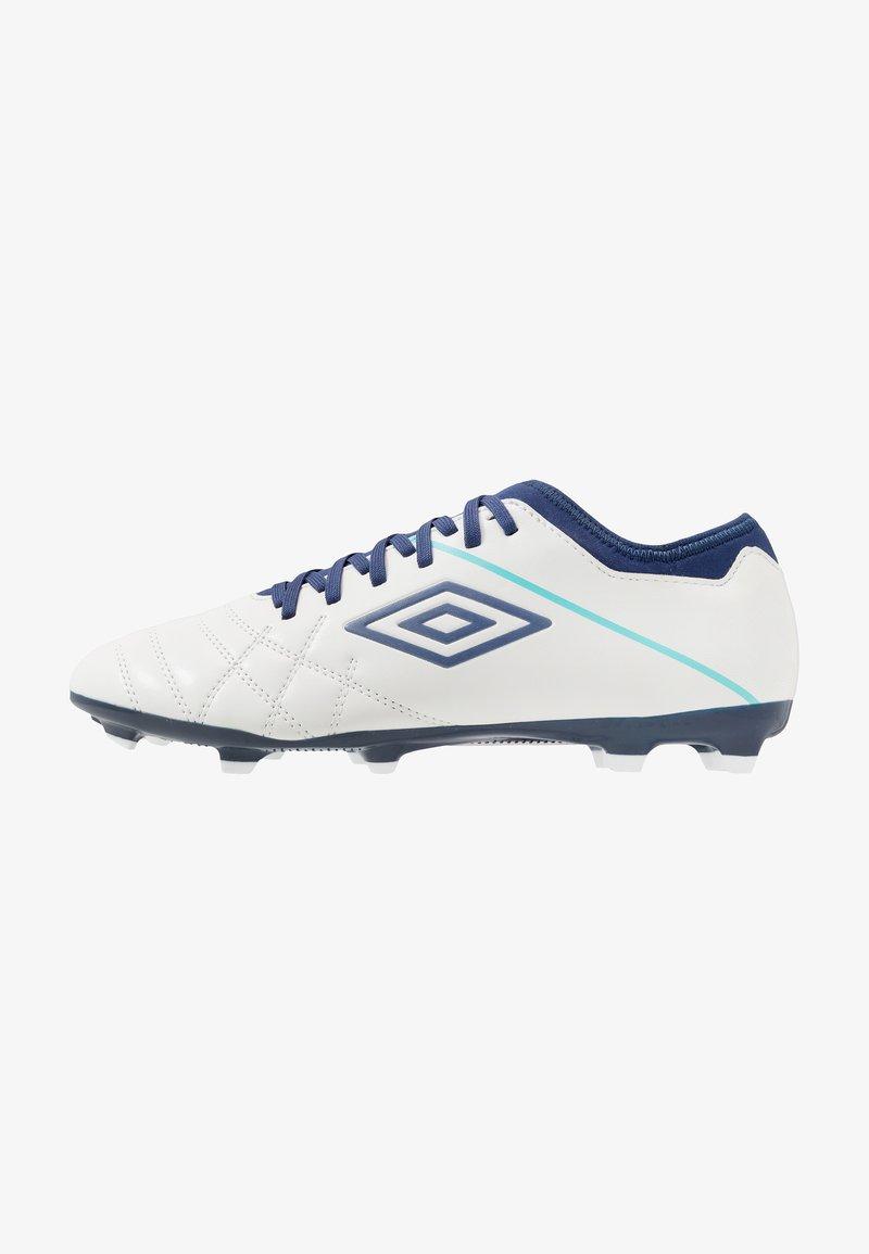 Umbro - MEDUSÆ III CLUB FG - Kopačky na umělý trávník - white/medieval blue/blue radiance