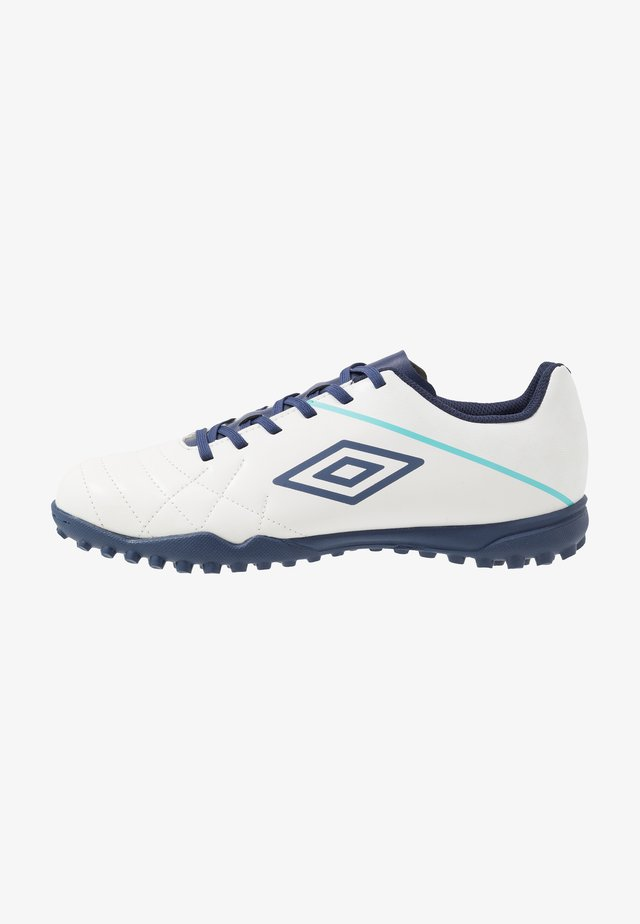 MEDUSÆ III LEAGUE TF - Astro turf trainers - white/medieval blue/blue radiance