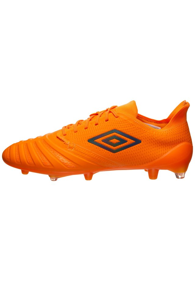 UX ACCURO III PRO FG FUSSBALLSCHUH HERREN - Moulded stud football boots - orange / grey reflective