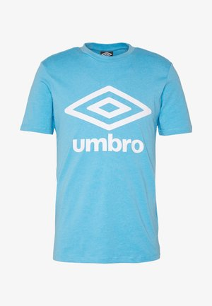 LARGE LOGO TEE - Print T-shirt - sky blue marl