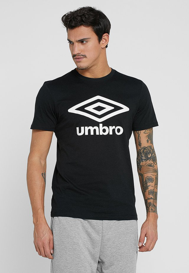 LARGE LOGO TEE - Print T-shirt - black