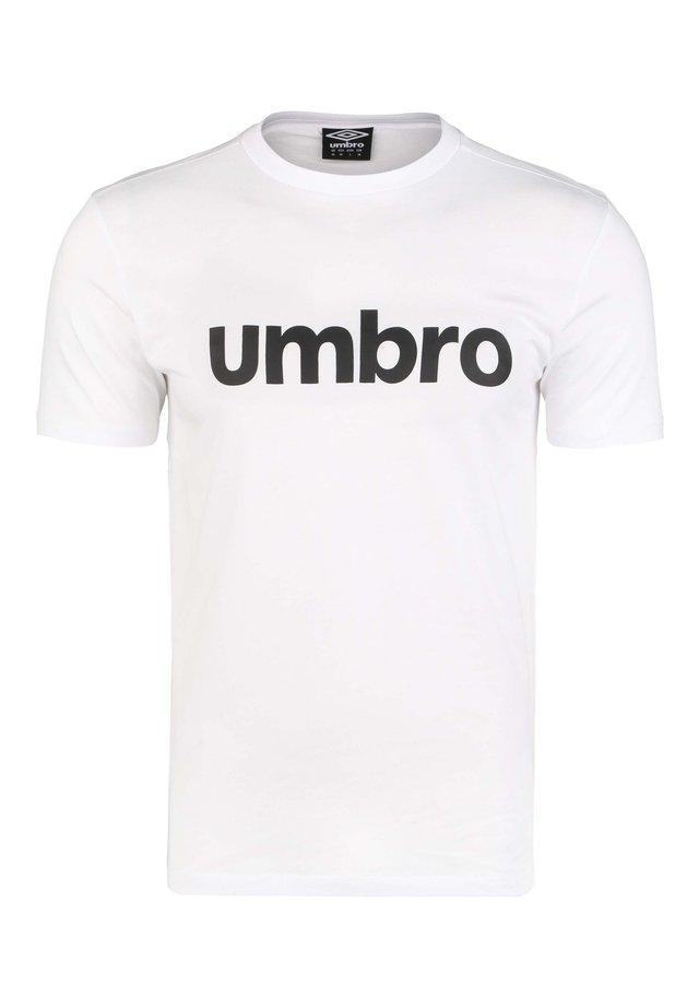 LINEAR LOGO GRAPHIC TEE - Print T-shirt - brilliant white / black