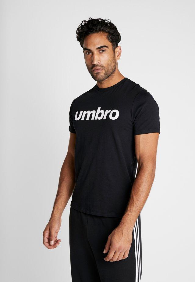 LINEAR LOGO GRAPHIC TEE - Print T-shirt - black/brilliant white