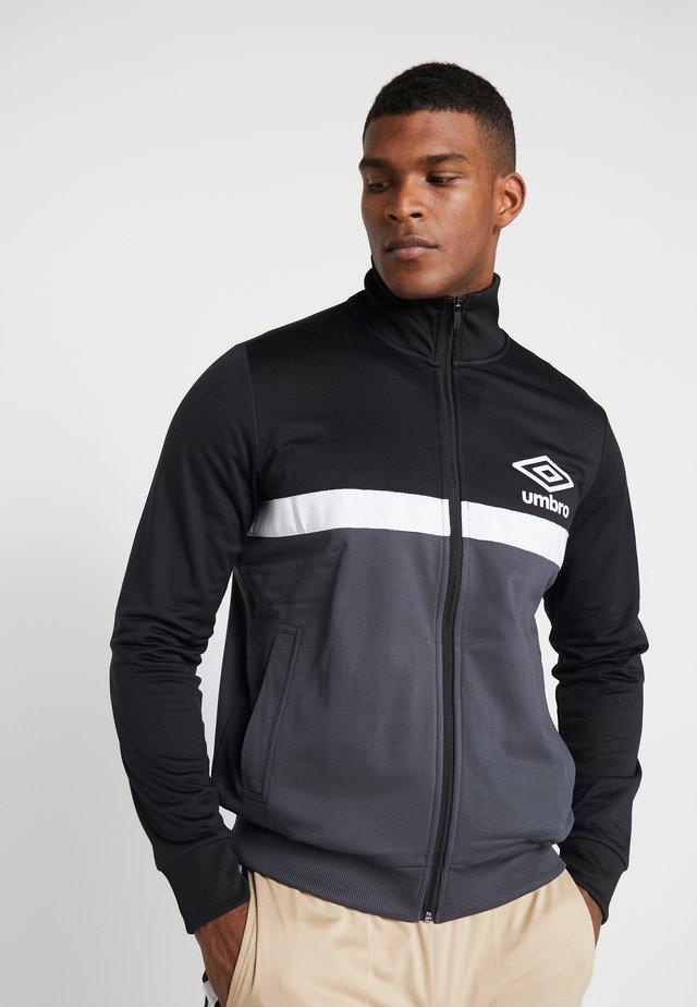 PANELLED TRACK - Training jacket - black/carbon/brilliant white