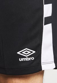 Umbro - PANEL SHORT - Urheilushortsit - black/brilliant white - 5