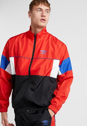ULTIMO TRACK JACKET - Trainingsvest - scarlet/black/deep surf/white