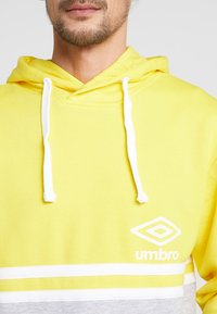 Umbro - BLOCK COLOUR HOODY - Felpa con cappuccio - empire yellow/brilliant white/grey marl - 3
