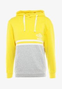 Umbro - BLOCK COLOUR HOODY - Felpa con cappuccio - empire yellow/brilliant white/grey marl - 4