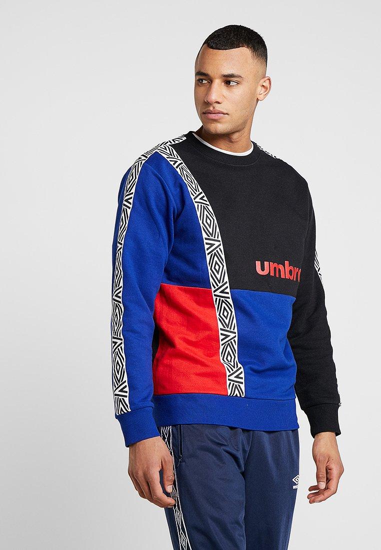 Umbro - HALO CREW - Sweatshirt - black/deep surf/scarlet