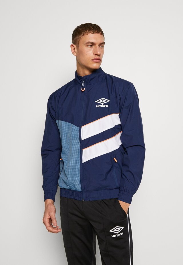 DIAMOND CUT TRACK JACKET - Training jacket - medieval blue/brilliant white