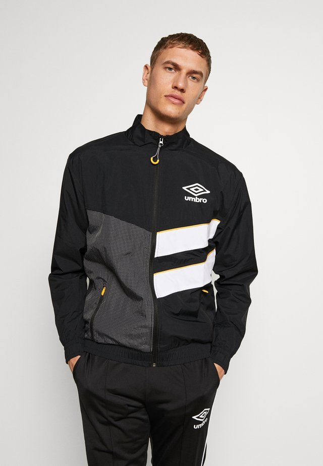 DIAMOND CUT TRACK JACKET - Sportovní bunda - black/brilliant white