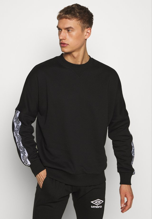 TAPED DROP SHOULDER  - Sweatshirt - black