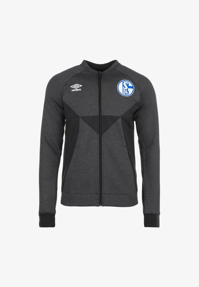FC SCHALKE 04 PRÄSENTATIONSJACKE HERREN - Article de supporter - black marl / black